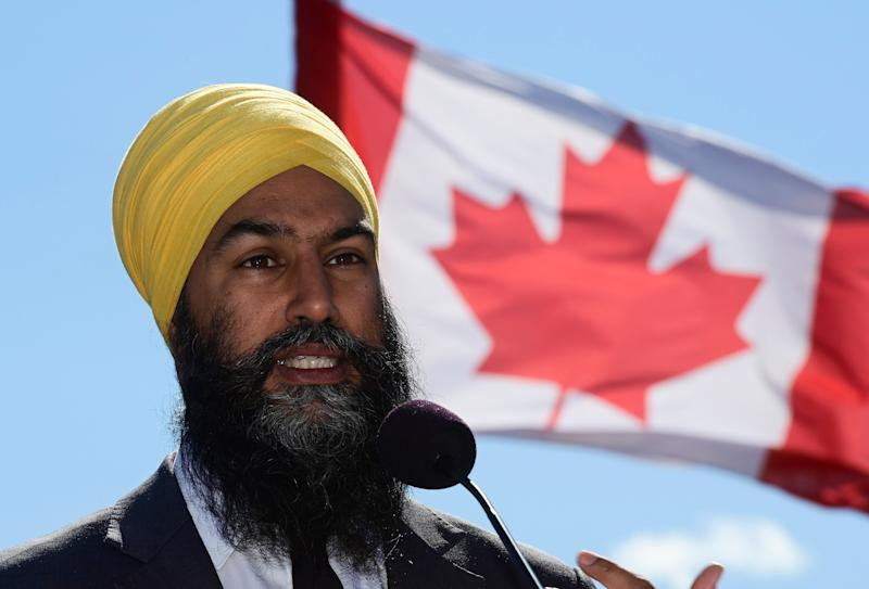 NDP Leader Jagmeet Singh holds a press conference in Gatineau, Que. on Sept. 18, 2020. (Photo: Sean Kilpatrick/CP)