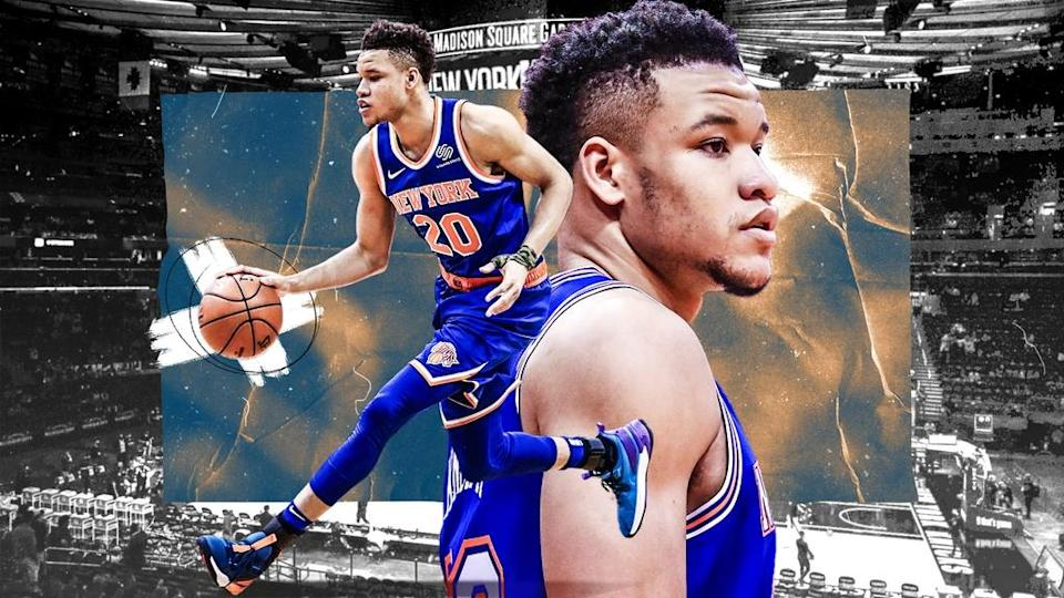Kevin Knox TREATED ART blue jersey two panels 2021