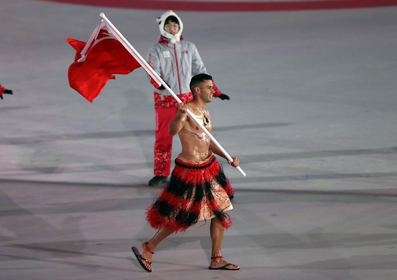 <p><strong>THE GOOD</strong><br />Pita Taufatofua:<br />Tongan flag bearer Pita Taufatofua of Tonga led the team during the Opening Ceremony of the PyeongChang 2018 Winter Olympic Games. This is the second straight Olympic Games that he's been the flag bearer. He competed in cross-country skiing in PyeongChang. (Getty Images) </p>