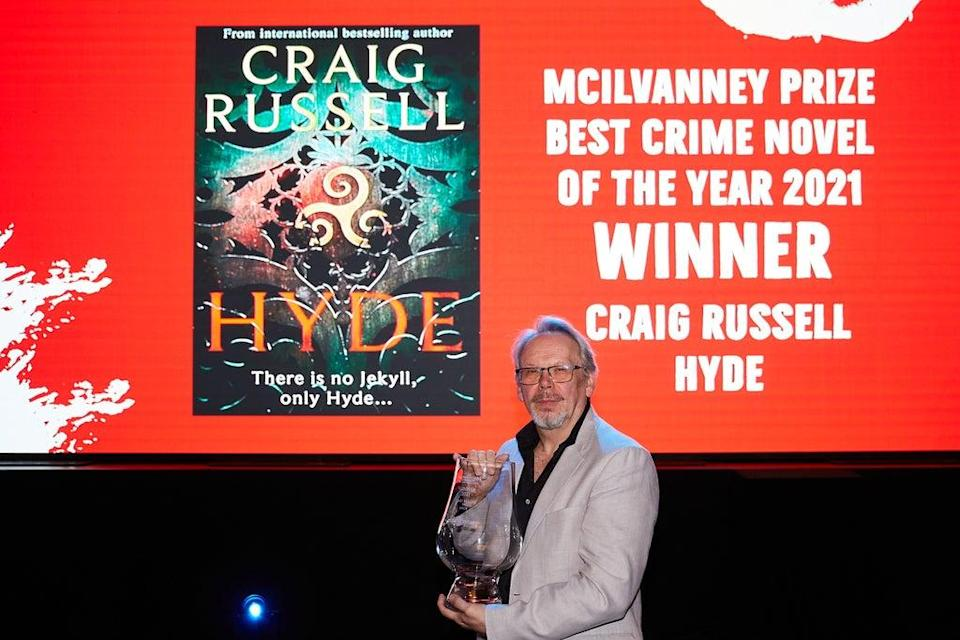 Craig Russell, winner of the McIlvanney Prize, in the The Albert Halls at Bloody Scotland, Scotland's International Crime Writing Festival (Paul Reich/PA)