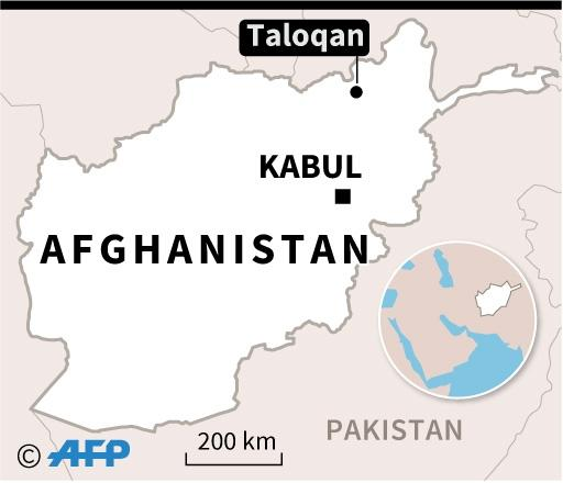 Map locating Taloqan in Afghanistan, where two journalists were killed in an attack