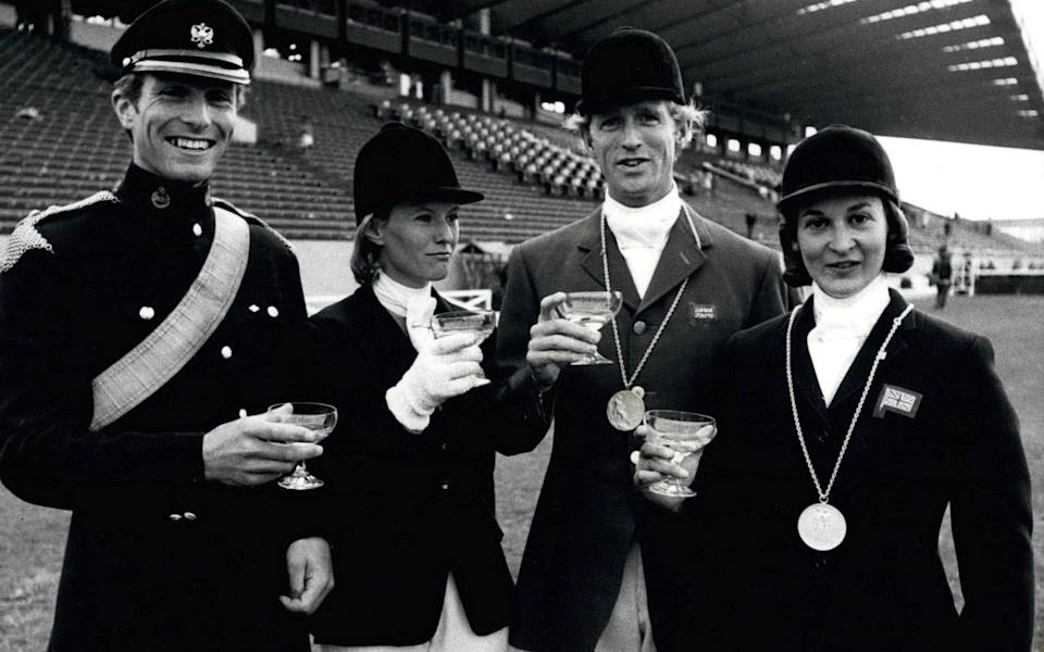 Mark Phillips made up the team with Mary Gordon-Watson Richards Meade and Bridget Parker back in 1968 - Shutterstock