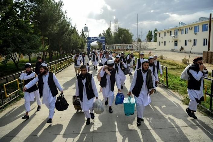 Kabul says just over 4,900 Taliban prisoners have been released so far (AFP Photo/WAKIL KOHSAR)