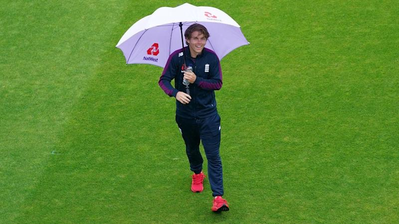 England bowler Sam Curran's momentum in the second West Indies Test has been halted by rain