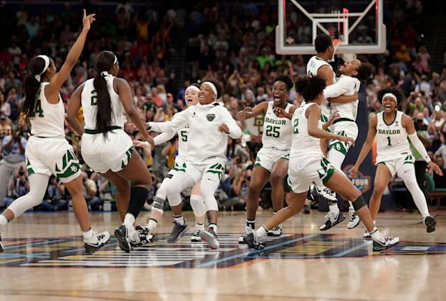 Baylor coach Kim Mulkey said that she would be honored if Donald Trump invited her team to the White House after their national championship win on Sunday. (AP/John Raoux)