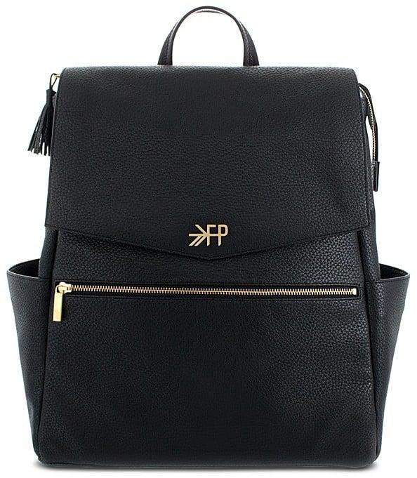 <p>Evenly distribute the weight with this <span>Freshly Picked Faux Leather Diaper Bag</span> ($175).</p>