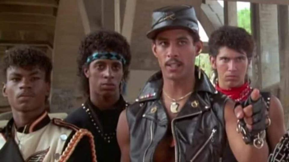 """Dancer-actor-choreographer Adolfo """"Shabba-Doo"""" Quinones (second from right), shown co-starring in 1984's """"Breakin' 2: Electric Boogaloo,"""" has reportedly died of undisclosed causes. He was 65."""