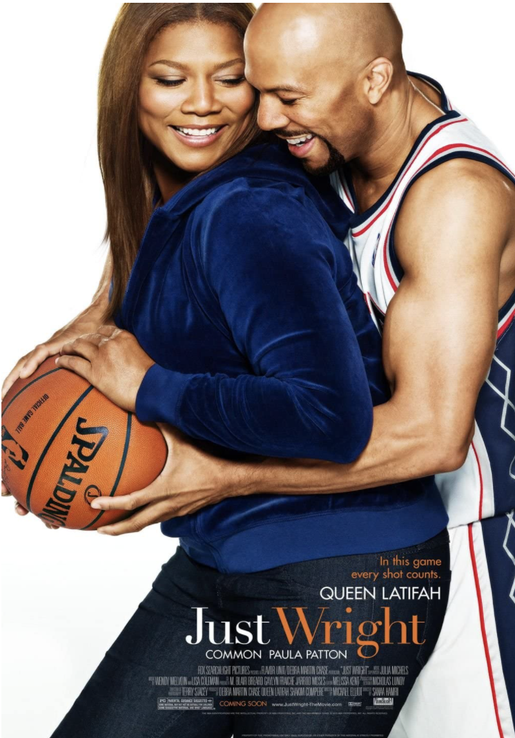 """<p>A physical therapist (Queen Latifah) lands a great gig helping an NBA star (Common) recover from an injury. But she finds herself struggling to keep things professional when she secretly falls in love with him.</p><p><a class=""""link rapid-noclick-resp"""" href=""""https://www.amazon.com/Just-Wright-Queen-Latifah/dp/B0041VMW46?tag=syn-yahoo-20&ascsubtag=%5Bartid%7C10063.g.35083114%5Bsrc%7Cyahoo-us"""" rel=""""nofollow noopener"""" target=""""_blank"""" data-ylk=""""slk:STREAM IT HERE"""">STREAM IT HERE</a></p>"""