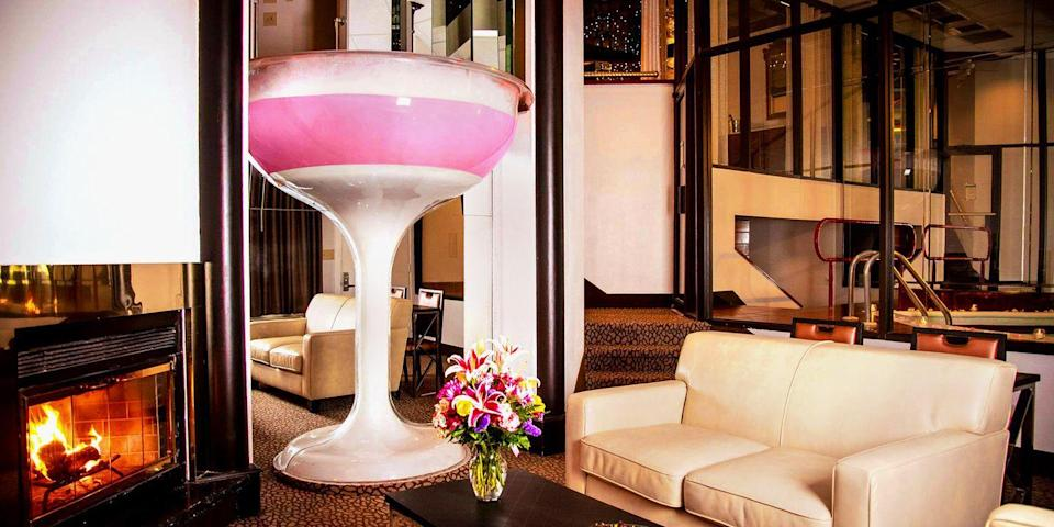 """<p><a class=""""link rapid-noclick-resp"""" href=""""https://go.redirectingat.com?id=74968X1596630&url=https%3A%2F%2Fwww.tripadvisor.com%2FHotel_Review-g52965-d102226-Reviews-Cove_Haven_Resort-Lakeville_Pocono_Mountains_Region_Pennsylvania.html&sref=https%3A%2F%2Fwww.redbookmag.com%2Flove-sex%2Fg35361982%2Fromantic-hotels-in-the-us%2F"""" rel=""""nofollow noopener"""" target=""""_blank"""" data-ylk=""""slk:BOOK NOW""""><strong>BOOK NOW</strong></a></p><p>Nestled in the gorgeous woods of Pennsylvania, Cove Haven Resorts offers guests couple-inspired nightly activities, table-service pampering at the dining hall, drinks, live entertainment, and more. During the daytime, couples can mini golf, take a rowboat out, or grab a free ride to the local casino. <br></p><p>What stands out most about Cove Haven Resorts are the affordable private suite-style rooms which include details like heart- or Champagne glass-shaped hot tubs, wooden outside decks, saunas, an indoor pool (yes, this is still in the room), spiral stairs, round beds, mirrored ceilings, see-through second-story flooring, and more. </p><p>To really impress your sweetie, call in advance to make sure they leave rose petals from the front door all the way to the bed. </p>"""