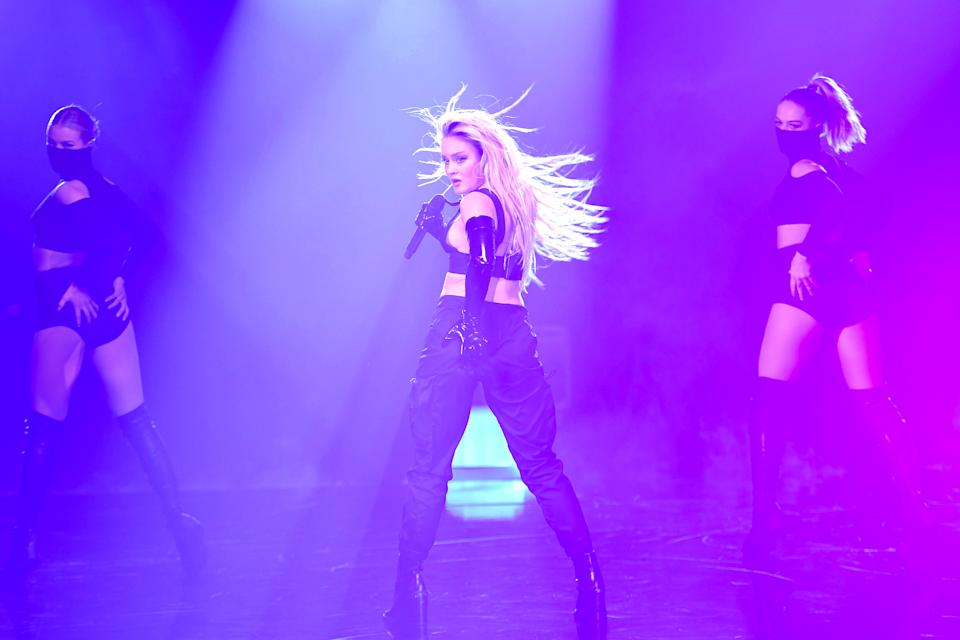 LONDON, ENGLAND - OCTOBER 31: In this image released on November 08, Zara Larsson performs at the MTV EMA's 2020 on October 31, 2020 in London, England. The MTV EMA's aired on November 08, 2020. (Photo by Ian Gavan/Getty Images for MTV)
