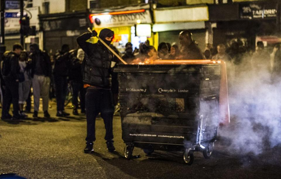 Rashan Charles death: Furious protesters outside the shop where a young man died after being chased by police (Lucy Young)