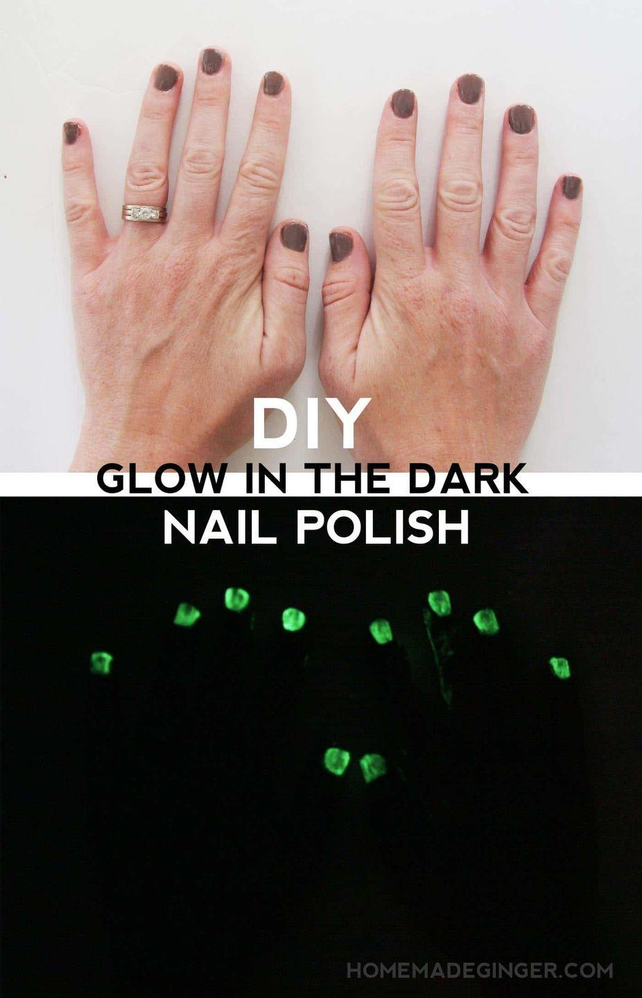 "<p>Help your kids mix together this nail polish, and take turns giving each other ""monster manicures.""</p><p><strong>Get the tutorial at <a href=""https://modpodgerocksblog.com/diy-glow-in-the-dark-nail-polish/"" rel=""nofollow noopener"" target=""_blank"" data-ylk=""slk:Mod Podge Rocks"" class=""link rapid-noclick-resp"">Mod Podge Rocks</a>.</strong></p><p><strong><a class=""link rapid-noclick-resp"" href=""https://www.amazon.com/Revlon-66182-Nail-Enamel-Clear/dp/B000WQ9VNO?tag=syn-yahoo-20&ascsubtag=%5Bartid%7C10050.g.4950%5Bsrc%7Cyahoo-us"" rel=""nofollow noopener"" target=""_blank"" data-ylk=""slk:SHOP NAIL POLISH"">SHOP NAIL POLISH</a><br></strong></p>"