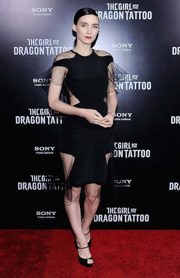 """Rooney Mara, 26, burst onto the scene with her Oscar-nominated role in last year's blockbuster movie """"The Girl With the Dragon Tattoo,"""" based on the bestselling Millennium series of books. Much of the reason we're so taken with Rooney is that like the badass character of Lizbeth Salamander that she plays onscreen, she has a unique style, although Rooney's wardrobe is much more sophisticated than Lizbeth's. """"I used to wear a lot of girlie, frilly things,"""" Rooney told <em><i>Allure</i></em> in December, """"[But] now I buy things that are more comfortable, and more utilitarian, and sort of boyish."""""""