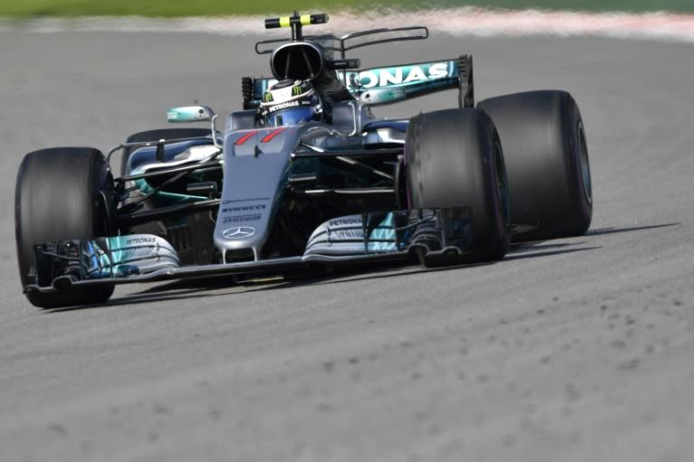 Mercedes' Finnish driver Valtteri Bottas steers his car during the Formula One Russian Grand Prix at the Sochi Autodrom circuit in Sochi on April 30, 2017