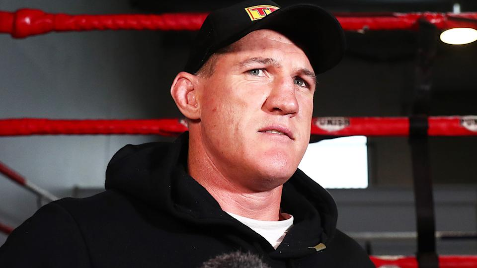 Paul Gallen's acrimonious relationship with Justis Huni's camp has continued to flare up ahead of their June 16 bout. (Photo by Chris Hyde/Getty Images)