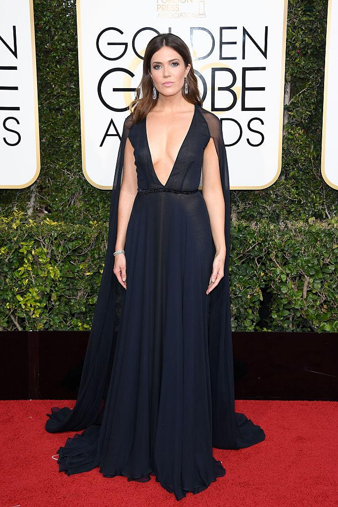 Mandy Moore in Naeem Khan. (Photo: Getty Images)