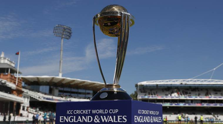 The Cricket World Cup trophy on display at Lord's in London (File Photo)