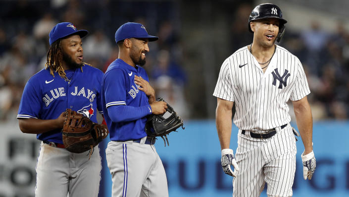 There likely won't be many smiles shared between the Blue Jays and Yankees this week. (Photo by Jim McIsaac/Getty Images)