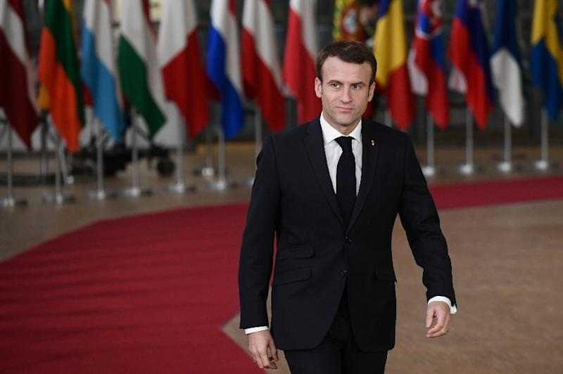 """Macron has seen his popularity slide to just 25 percent, according to one poll a week ago, and the protests reflect broader frustration with a leader critics label as aloof and """"president of the rich"""" (AFP Photo/Philippe LOPEZ)"""