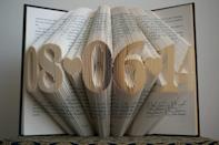 <p>This <span>Boston Creative Company Folded Book Art</span> ($60) is a thoughtful gift for couples. Plus, getting a custom gift on Amazon is a feat in and of itself.</p>