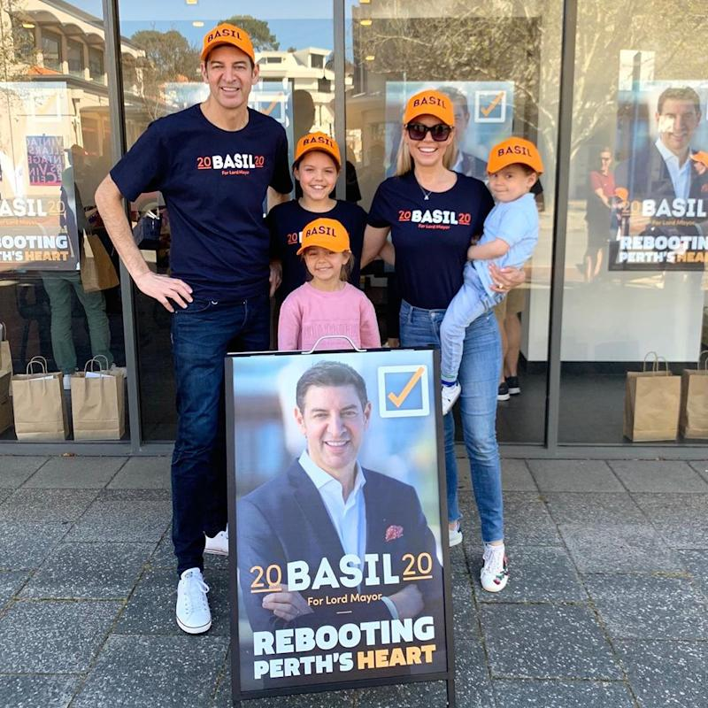 Basil Zempilas and his family in 2020