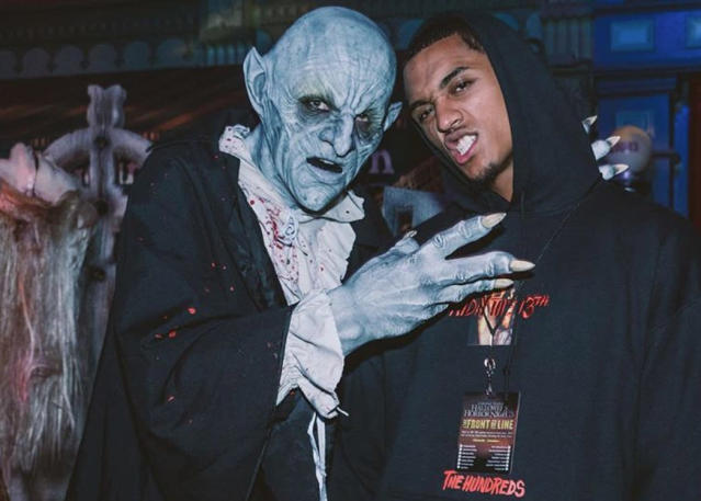 "<a class=""link rapid-noclick-resp"" href=""/nba/players/5357/"" data-ylk=""slk:Jordan Clarkson"">Jordan Clarkson</a> wants you to know aliens are people, too. (Instagram)"