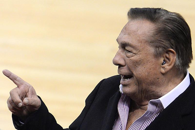 Former Los Angeles Clippers owner Donald Sterling at Staples Center in Los Angeles on April 21, 2014 (AFP Photo/Robyn Beck)