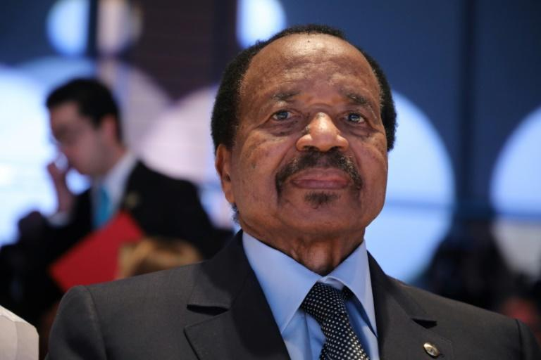 Paul Biya has ruled Cameroon with an iron fist for 37 years (AFP Photo/Ludovic MARIN)