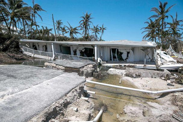 PHOTO: In this file photo, a 3-story condominium has collapsed after Hurricane Irma send a storm surge and eroded the building foundations, in Islamorada, Florida Keys, Sept. 12, 2017. (Marcus Yam/Los Angeles Times via Getty Images, FILE)