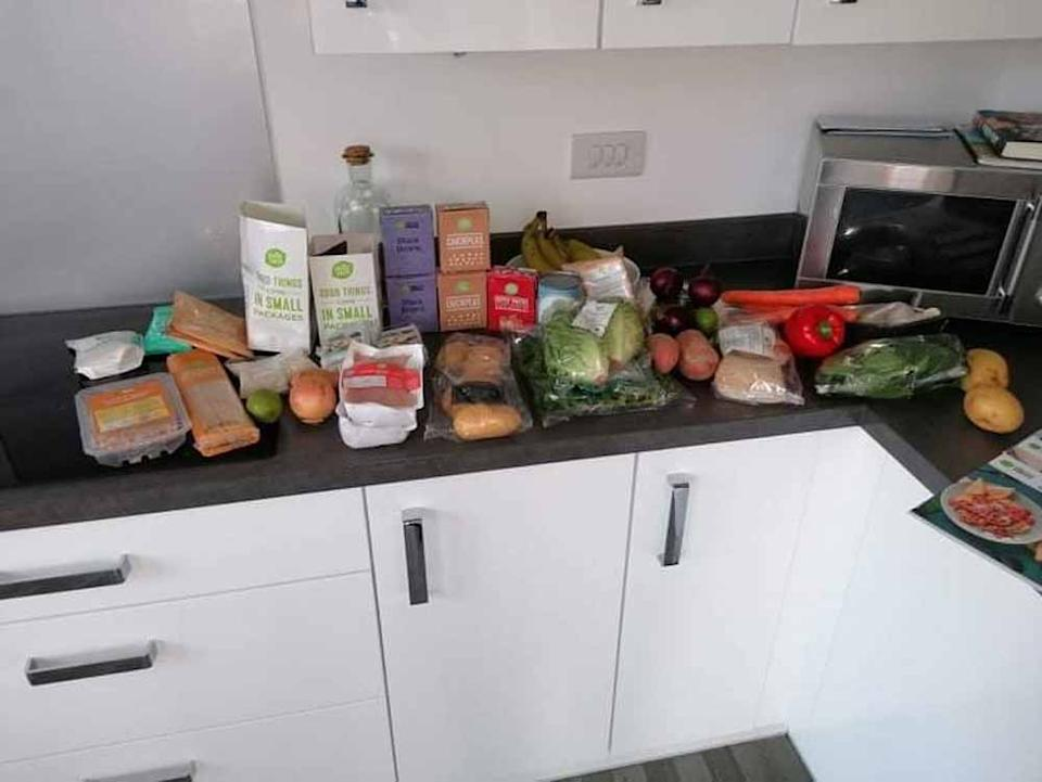 The mum saves money by finding deals for family recipe boxes. (Supplied PA Real Life)