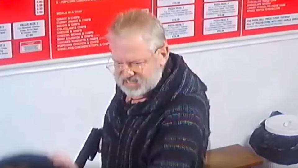 Paul Griffiths pulled out the imitation firearm in a kebab shop.