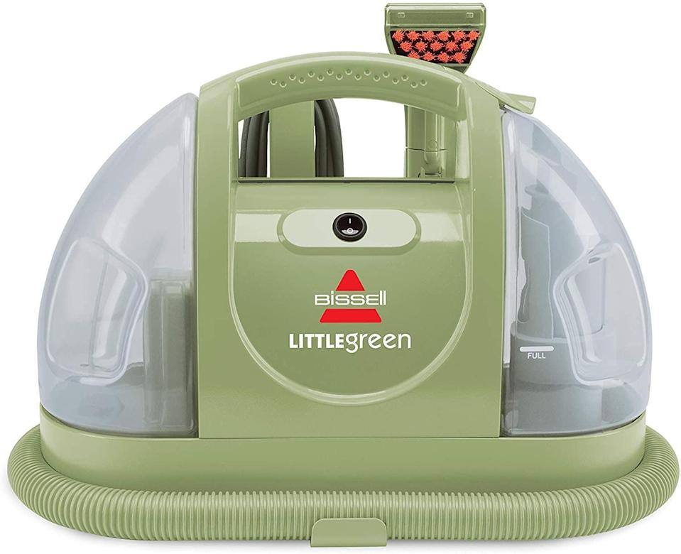 <p>The <span>Bissell Little Green Multi-Purpose Portable Carpet and Upholstery Cleaner</span> ($110) has gone viral for tackling the most stubborn stains on carpets and couches. It's compact and easy to use!</p>