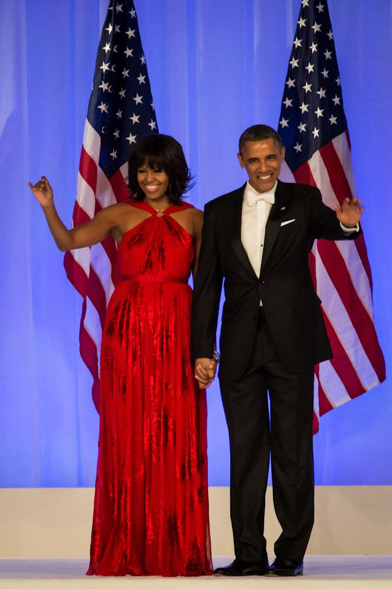 The former FLOTUS chose to wear another Jason Wu design for the inaugural ball that kicked off her husband's second term in 2013. The gown is now also a part of the National Museum of American History.