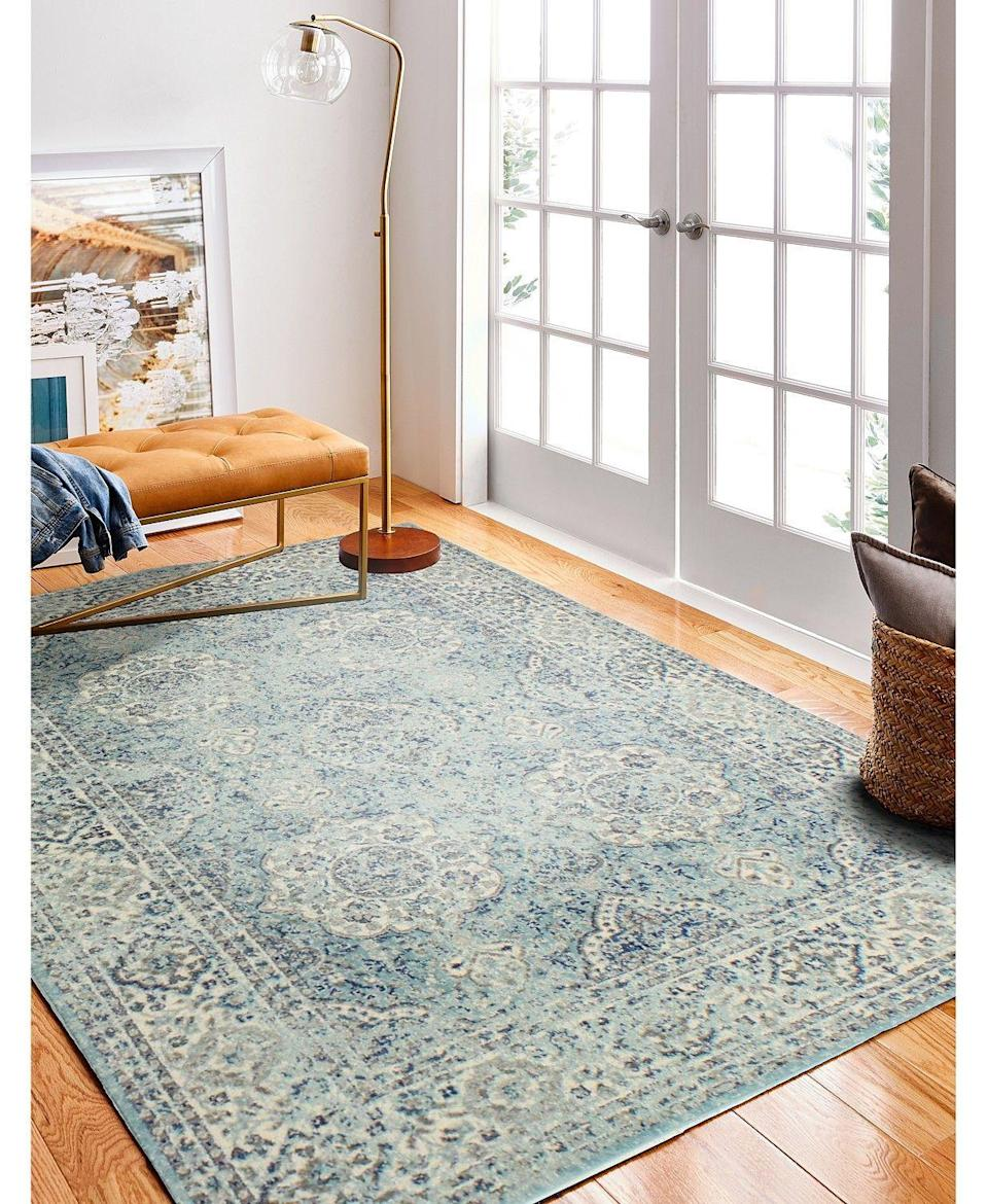 "<p><strong>BB Rugs</strong></p><p>macys.com</p><p><a href=""https://go.redirectingat.com?id=74968X1596630&url=https%3A%2F%2Fwww.macys.com%2Fshop%2Fproduct%2Fmedley-5363-area-rug%3FID%3D8395385&sref=https%3A%2F%2Fwww.housebeautiful.com%2Fshopping%2Fbest-stores%2Fg33993513%2Fmacys-home-sale-fall-60-percent-savings%2F"" rel=""nofollow noopener"" target=""_blank"" data-ylk=""slk:BU NOW"" class=""link rapid-noclick-resp"">BU NOW </a></p><p><del><strong>$286.00 </strong></del><strong>$122.98 (57% off)</strong></p><p>Brighten up your living room or bedroom with this area rug. It features a botanical and a medallion motif with a distressed finished. </p>"