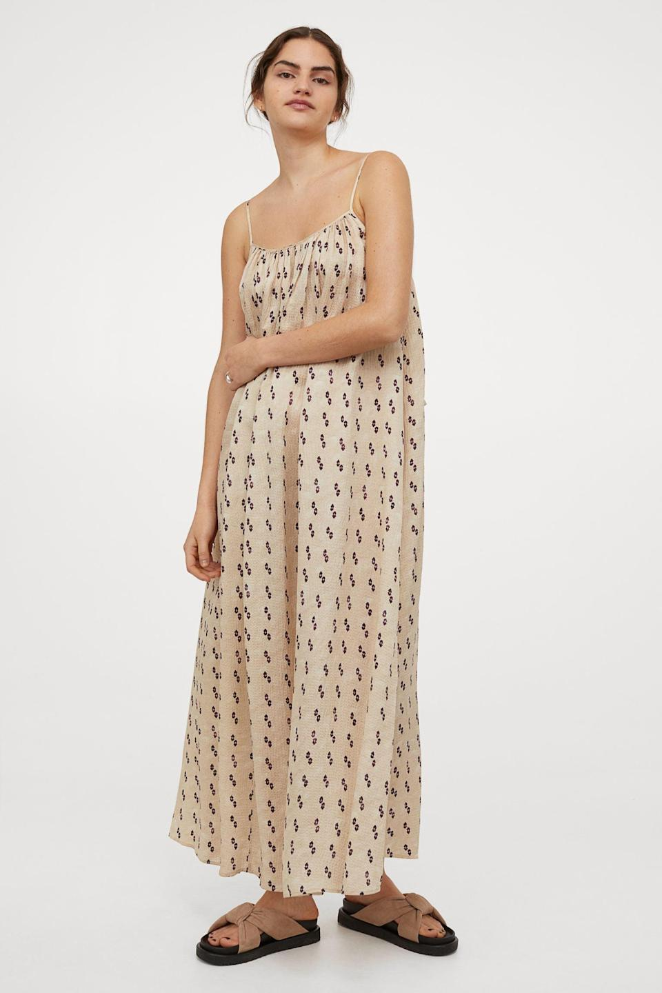 <p>If you like to dress up without putting in much effort, then opt for this casual yet polished <span>H&amp;M Long Silk-blend Dress</span> ($119, originally $149). The fabric brings an undeniably luxe touch.</p>