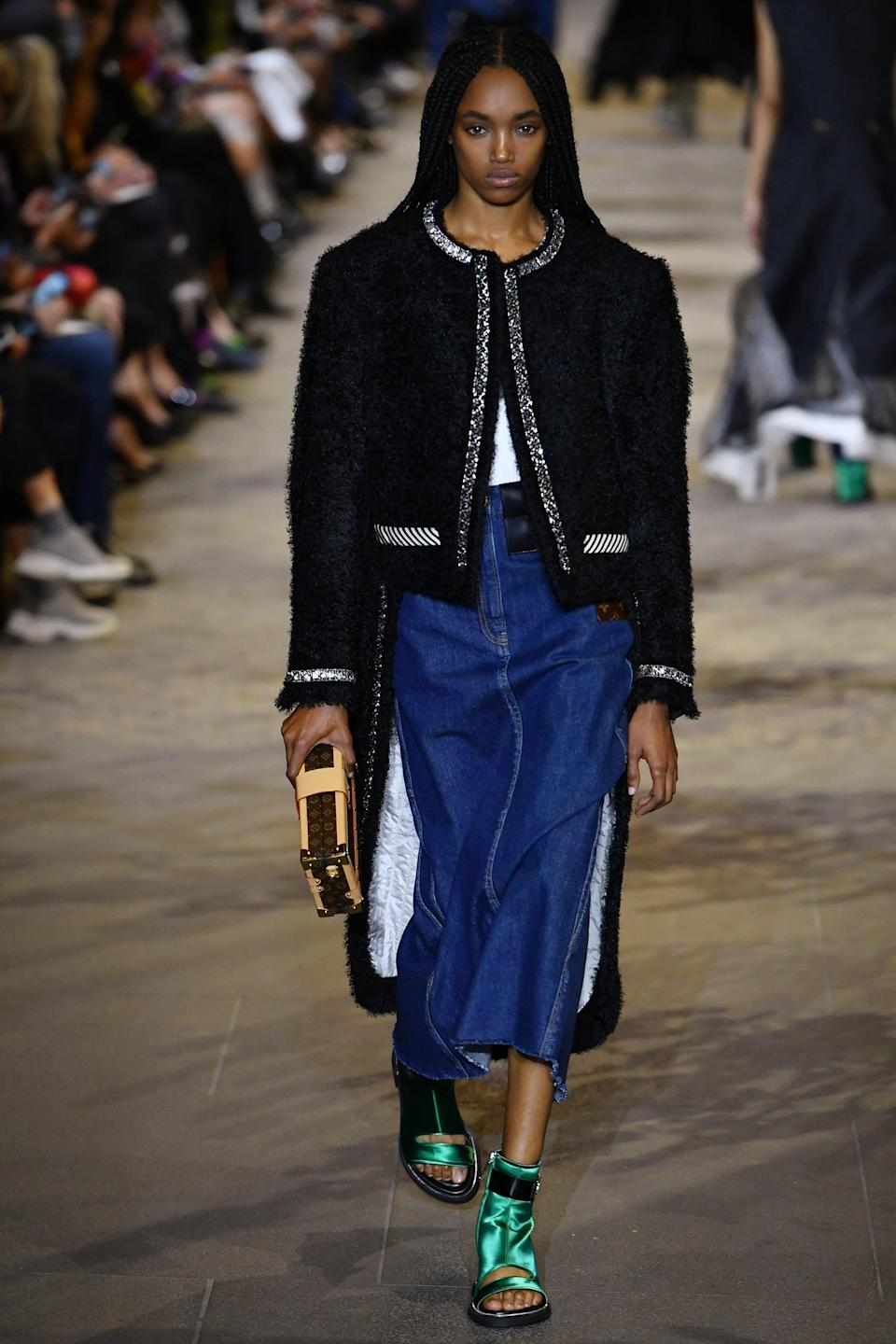 <p>It's about time we all buy a jacket with a train because why not.</p>
