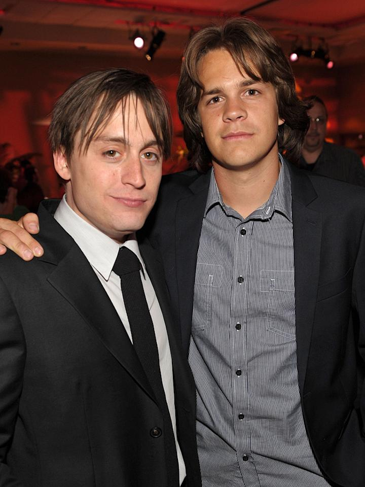 "<a href=""http://movies.yahoo.com/movie/contributor/1800025844"">Kieran Culkin</a> and <a href=""http://movies.yahoo.com/movie/contributor/1809727893"">Johnny Simmons</a> at the Los Angeles premiere of <a href=""http://movies.yahoo.com/movie/1810070753/info"">Scott Pilgrim vs. the World</a> - 07/27/2010"