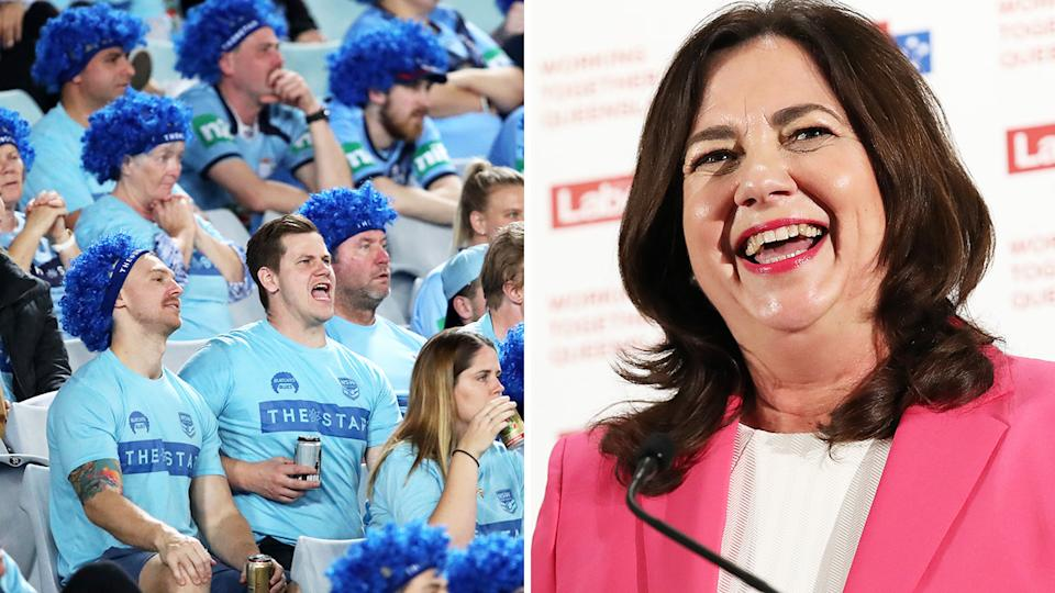 Annastacia Palaszczuk ripped into New South Wales outrage of State of Origin's game one relocation to Townsville.