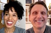 """<p>In honor of the show's eighth anniversary, Kerry Washington and Tony Goldwyn joined forces on Instagram Live to encourage their #ScandalFam and fellow #Gladiators to fill out the 2020 census, while discussing their favorite moments from the show.</p> <p>""""Filled out my Census with the President today,"""" Washington <a href=""""https://www.instagram.com/p/B-s6ieqnWzx/"""" rel=""""nofollow noopener"""" target=""""_blank"""" data-ylk=""""slk:captioned her clip"""" class=""""link rapid-noclick-resp"""">captioned her clip</a> of their Live session before adding, """"Happy #Scandalversary, love you @TonyGoldwyn! Love you #ScandalFam! Love you #Gladiators ❤️""""</p>"""
