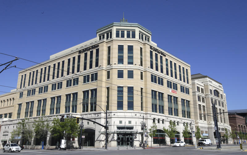FILE - This April 20, 2016, file photo shows the Salt Lake Tribune in Salt Lake City. The Salt Lake Tribune has announced plans to become a nonprofit as it moves toward a nontraditional model that it hopes will ensure long term stability after years of financial struggles. Salt Lake Tribune editor Jennifer Napier-Pearce said Wednesday, May 8, 2019, the move is aimed at finding a better way to fund the newspaper's operations because declines in advertising and circulation revenues that have plagued the industry seem irreversible. (AP Photo/Rick Bowmer, File)