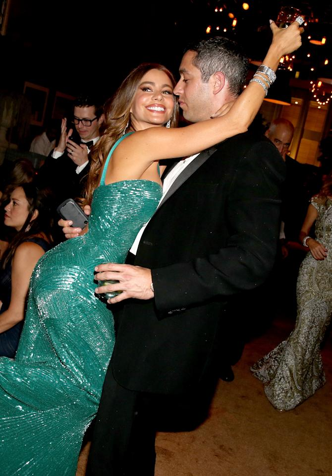 LOS ANGELES, CA - SEPTEMBER 23:  Actress Sofia Vergara and Nick Loeb attend the FOX Broadcasting Company, Twentieth Century FOX Television and FX 2012 Post Emmy party at Soleto on September 23, 2012 in Los Angeles, California.  (Photo by Christopher Polk/Getty Images for FOX)