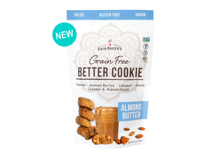 """<p><strong>Erin Baker's</strong></p><p>erinbakers.com</p><p><a href=""""https://erinbakers.com/collections/grain-free-better-cookie/products/better-cookie-almond-butter-5oz"""" rel=""""nofollow noopener"""" target=""""_blank"""" data-ylk=""""slk:Shop Now"""" class=""""link rapid-noclick-resp"""">Shop Now</a></p><p>""""This treat tastes like a yummy oatmeal cookie and only has 7 grams of sugar total for two cookies,"""" says <a href=""""https://www.goodhousekeeping.com/author/224673/stefani-sassos/"""" rel=""""nofollow noopener"""" target=""""_blank"""" data-ylk=""""slk:Stefani Sassos, M.S., R.D.N., C.S.O., C.D.N."""" class=""""link rapid-noclick-resp"""">Stefani Sassos, M.S., R.D.N., C.S.O., C.D.N.</a>, registered dietitian nutritionist at <em>Good Housekeeping</em>. """"I love the soft, chewy texture.""""</p>"""