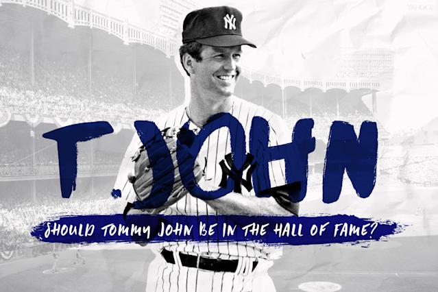 Let's take a look at Tommy John's case for the Hall of Fame. (Amber Matsumoto/Yahoo Sports)
