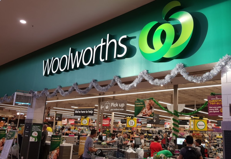 Pictured is a picture of a Woolworths supermarket.