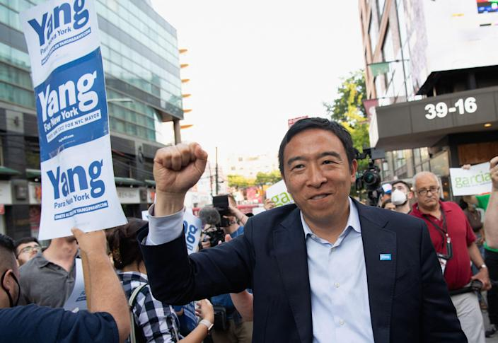 Businessman and former presidential candidate  Andrew Yang plans to launch a new political party.  (AFP via Getty Images)