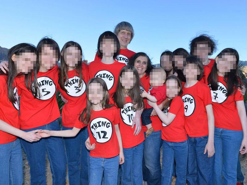David and Louise Turpin with their 13 children (Facebook)