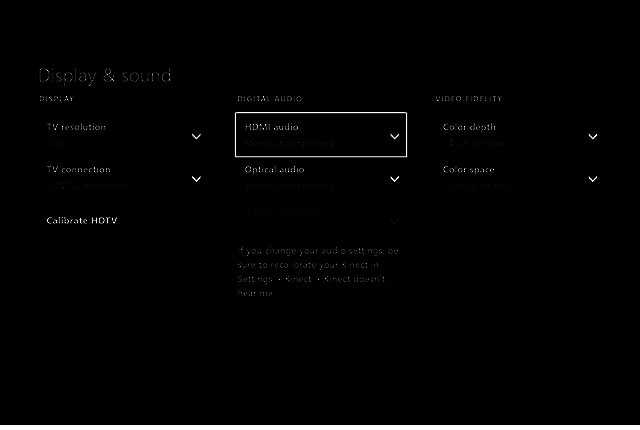 Xbox One Settings