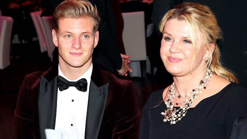 Mick Schumacher and mother Corinna, pictured here at the German Sports Media Ball in 2019.