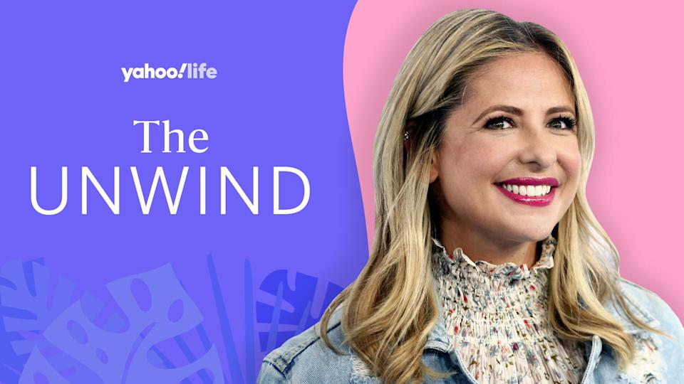 Sarah Michelle Gellar opens up about finding perspective and seeking solace in the great outdoors. (Image: Getty Images; designed by Quinn Lemmers)