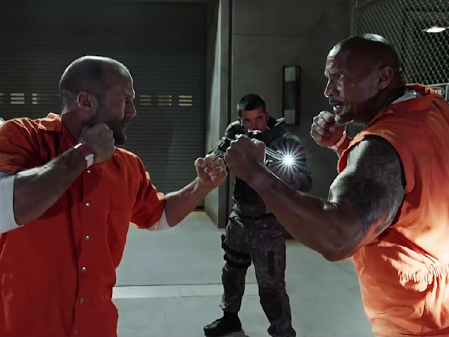 Jason Statham and Dwayne The Rock Johnson In Fate of the Furious